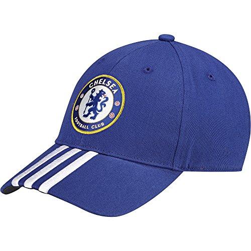 adidas Baseball Cap FC Chelsea 3-Streifen Kappe Cheblu/Dkblue, OSFM -