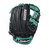 WILSON 2018A2000RC22GM Infield Handschuhe–Rechte Hand Überwurf schwarz/Mariner grün/weiß, 29,2cm