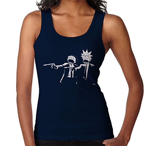 Rick And Morty Pulp Fiction Women's Vest Navy Blue