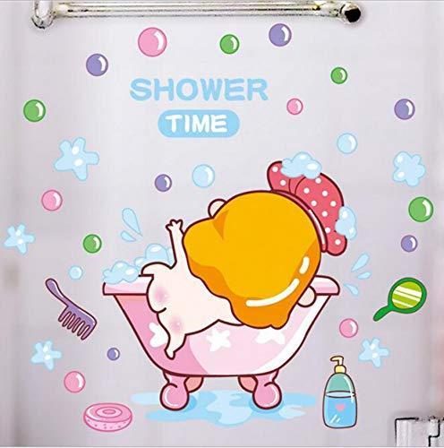 Wandaufkleber Kinderzimmer Baby Dusche Niedlichen Warmen Badezimmer Glas Aufkleber Badezimmer Dekoration Fliesen Papier 20 * 30Cm