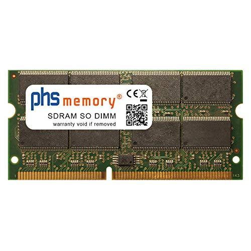 133 Mhz Notebook Speicher (PHS-memory 512MB RAM Speicher für Hyrican M762TU SDRAM SO DIMM 133MHz PC133S)