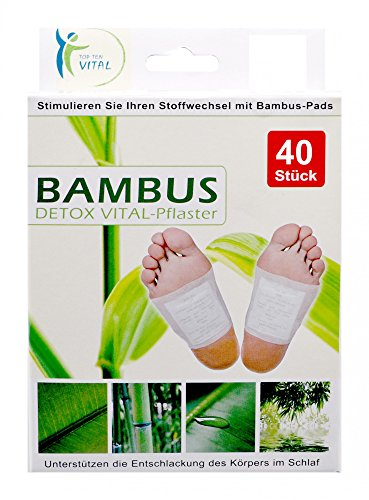 EuroDiscount Bambus Vital Pads Detox Pflaster 100{66adcdf3e4ae33086c21c52c451bd3126eeab44815f5641b17ea33c12b55d9ef} Natürlich 40 Stück Set