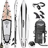 THURSO SURF Tabla Paddle Surf Hinchable Expedition 350 x 76 x 15 cm Construcción de Dos Capas Deluxe Incluye Remo con Eje de Carbono/2+1 Quick Lock Aleta/Correa/Bomba/Mochila de Rodillo(2019)