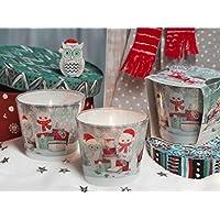 WINTER EULEN Weihnachtskerzen Deko Duftkerze im Glas in verschiedenen Duftvarianten, Brenndauer: 30h (Winter Stories) preisvergleich bei billige-tabletten.eu