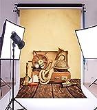 YongFoto 1,5x2,2m Vinyle Toile de Fond Voyage Vacances d'été Concept Aventure Valise Fond Décors Studio Photo Portrait Enfant Video Fete Mariage Photobooth Photographie Accesorios