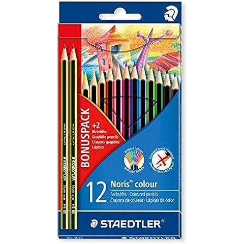 Staedtler  - Caja 12 lápices colores noris colour + 2 lápices grafito noris eco