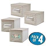 mDesign Juego de 4 cajas organizadoras para el cuarto de los niños -...