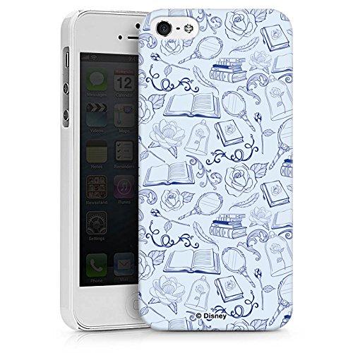 Apple iPhone X Silikon Hülle Case Schutzhülle Die Schöne und das Biest Muster Disney Hard Case weiß