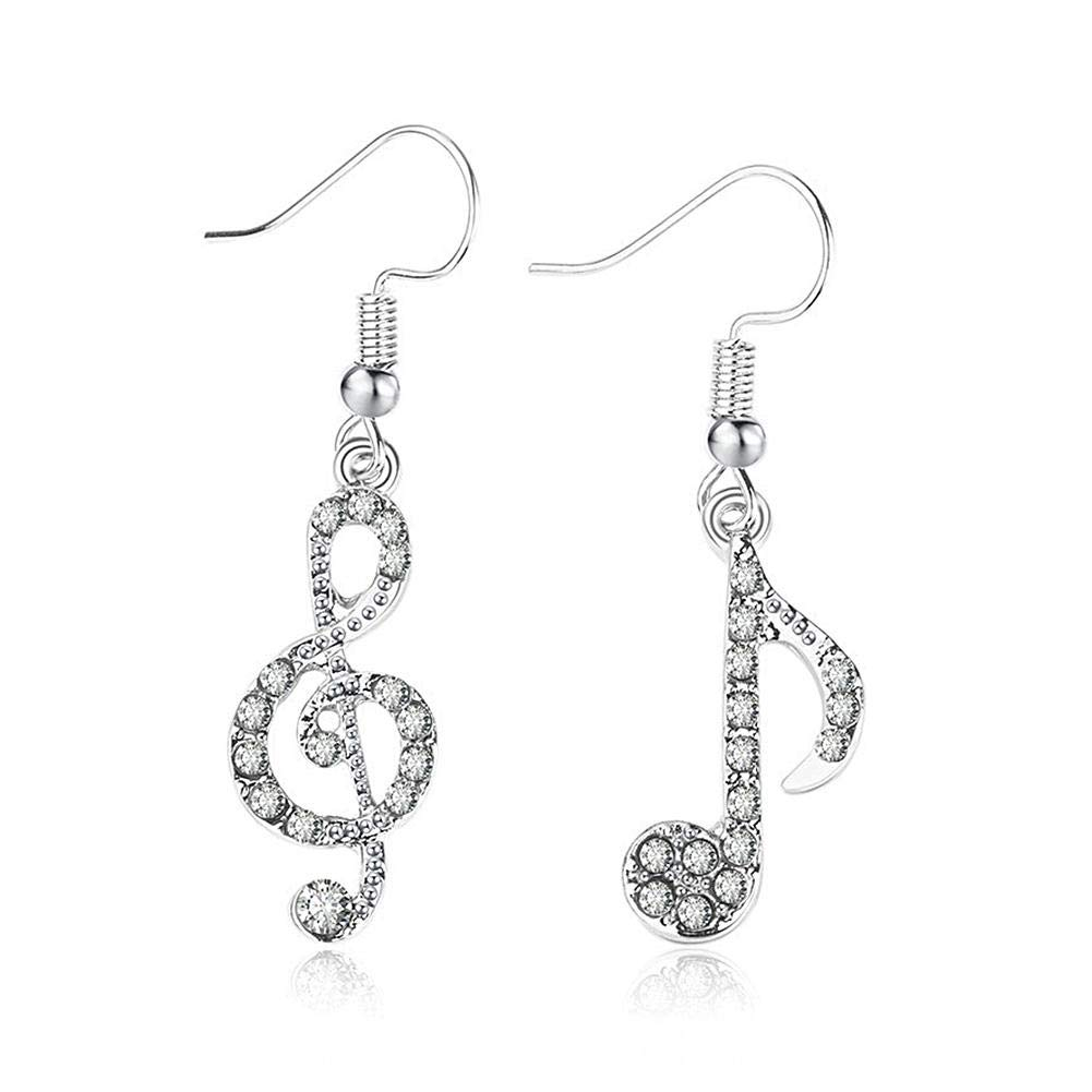 Asymmetrical Earrings Musical Note Jewelry Stud Earring & Drop Earring iBàste