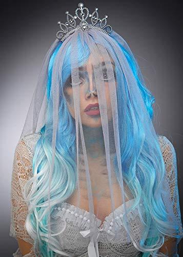 8in1 Womens Halloween Corpse Bride Style grauen Schleier Kopfschmuck (Corpse Bride Kostüm Schleier)