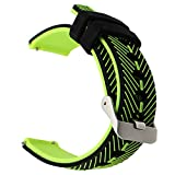 TRUMiRR 22mm Quick Release Uhrenarmband Double Color Silikon Gummi Handgelenk Armband für Samsung Gear S3 Classic Frontier, Gear 2 Neo Live, Moto 360 2 46mm, Pebble Time, LG G Watch Urbane, Vector