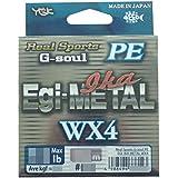 ygk P.E Line g-soul EGI metal Wx4Eging Line 180m P.E 0.5, 10Lb (8228)