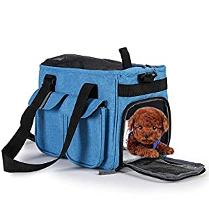 Dog-Carrier-Soft-Sided-Handbag-Lightweight-Pet-Cat-Oxford-Tote-Bag-40x20x24cm