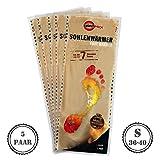 Warmpack, 5coppie di solette riscaldanti, caloriferi piacevoli, cuscinetto di calore morbido e soffice, 7 ore di calore lenitivo, taglia S