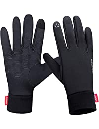 coskefy Winter Gloves Men Women Windproof Cycling Gloves with Touchscreen Function Driving Running Outdoor Sports Gloves