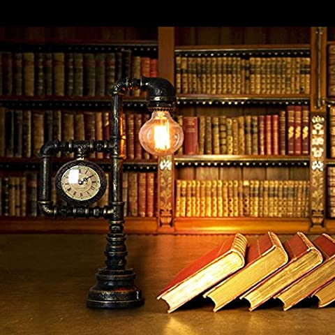 SHDT Neue Nostalgische industrielle Wasserpfeife Kreative Tischlampe Nachttisch Lampe Lesen neben Schlafzimmer Home Decor Moderne Licht amerikanischen Retro-Industrie-Stil
