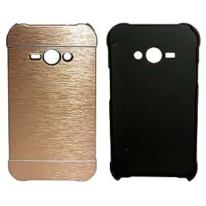 TOTTA Aluminium Hard Back Case Cover For Samsung Galaxy J1 Ace - Gold