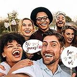 xiliary 23pcs accessoires de fête de mariage papier barbe photo décoration de...