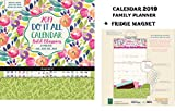 Bold Blossoms Do It All Official Family Planner Kalender 2019 + Leer Kühlschrankmagnet