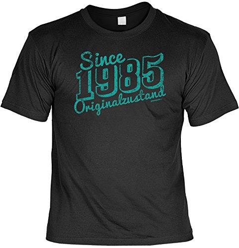 T-Shirt mit Geburtstagsmotiv - Since 1985 Originalzustand - Cooles Geschenk zum Geburtstag - Jahrgang 85 - schwarz Schwarz