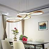 HSWR LED Pendelleuchte Esstisch Hängelampe Dimmbar Deckenlampe Modern Deckenleuchte Höhenverstellbar Hängeleuchte Pendellampe Esszimmer Gold Kronleuchter mit den Fernbedienung für Arbeitszimmer Wohnzimmer Schlafzimmer Küche Restaurant Büro (Gold,38w Dimmbar)