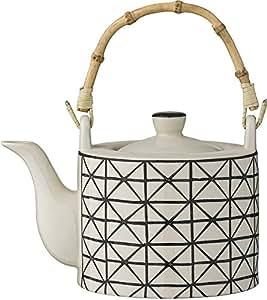 bloomingville teekanne julie schwarz creme k che haushalt. Black Bedroom Furniture Sets. Home Design Ideas