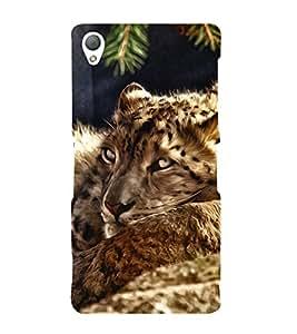 FUSON Sleeping Tiger Oil Painting 3D Hard Polycarbonate Designer Back Case Cover for Sony Xperia Z3 :: Sony Xperia Z3 Dual D6603 :: Sony Xperia Z3 D6633