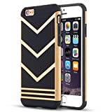 Culater® Ultra Slim Anti-slip Shockproof Armor Case Cover Sink For iPhone 6 Plus/6s Plus 5.5Inch (Gold)