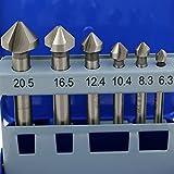 6PCS 90Grad HSS Kegelsenker Bits Fase Fräser Schneiden Tools mit Metall Box