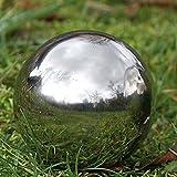 Deko Kugel aus Edelstahl für den Garten oder Teich Durchmesser 13 cm
