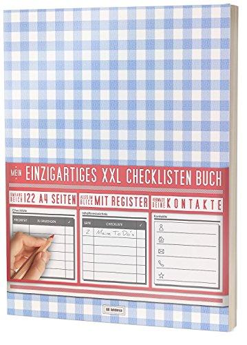 """Mein Einzigartiges XXL Checklistenbuch: 122 A4-Seiten, Softcover, Register uvm. / Für To Do's und Listen / PR501 """"Picknick"""""""