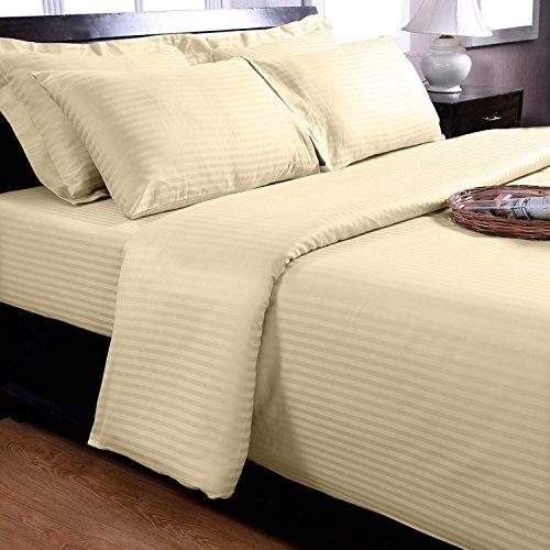 Homescapes Bettwäsche-Set Continental Bettbezug Sets Creme, 100% Baumwolle, Cremefarben, 155x200cm