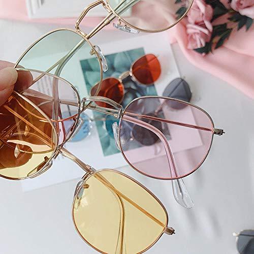 BHLTG Sonnenbrille Weiblicher UV-Schutz Kleiner Rahmen Runder Rahmen Sonnenbrille Männer Mit Kurzsichtigkeit Metallbrille Fahren Im Freien Fahren Mirror-2