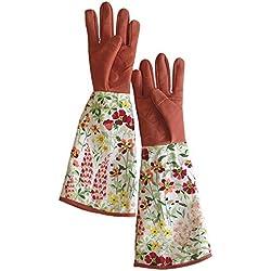Garten-und Arbeitshandschuhe. Rose beschneiden. Anti-Dorn. Die Länge bis Ellbogen schützt Ihre Arme. Nützliche Gartenhandschuhe für Frauen und Männer bei Gartenbau, Beschneiden, Pflücken, Stutzen usw.