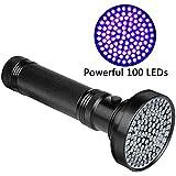 Veetop UV Lampe, Taschenlampe UV-Licht, Schwarzlichtlampe mit 100 superstrahlenden 18W UV-LED-Lampen 395nm, perfekt für Hygienekontrolle, für Urinflecken von Haustieren, Skorpione, Geocaching usw