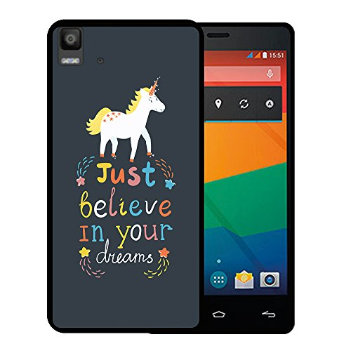 Bq Aquaris E5s - E5 4G Hülle, WoowCase Handyhülle Silikon für [ Bq Aquaris E5s - E5 4G ] Motivierungssatz - Just Belive in Your Dreams Handytasche Handy Cover Case Schutzhülle Flexible TPU - Schwarz