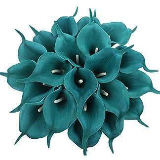 20 piezas de lirio de cala para bodas de Xiuer, ramo de flores artificial para decoración de fiestas y hogar