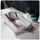Baby Bett Babynest Kuschelnest Babybett Babynestchen Reisebett Stillkissen (Grau)