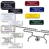 Roboterwerk Drohnen-Kennzeichen - eloxiertes Aluminium, Titan, High-Tech Glas - präzise Laserbeschriftung inkl. hilfreicher Pilotenkarte (Plakette zur Adress-Kennzeichnung)