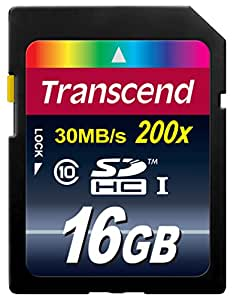 Transcend 16GB Premium SDHC Class 10 Memory Card [Frustration-free Packaging]