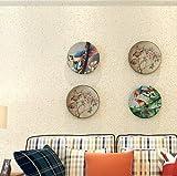 XPY-Wallpaper Mediterrane Stil reines Pigment Farbe Feste Partikel Vliestapete Wohnzimmer Schlafzimmer Restaurant, gelb
