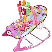 DMMASH Vibaration Musical reclinable recién Nacido bebé Hamaca Mecedora Swing Silla,Pink