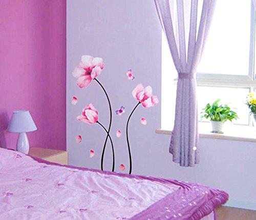 ufengker-flores-de-camelia-rosa-y-mariposas-pegatinas-de-pared-sala-de-estar-dormitorio-removible-et