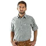 ALMBOCK Trachtenhemd Herren kariert | Slim-fit Männer Hemd dunkel-grün kariert | Karo Hemd aus 100% Baumwolle in den Größen S-XXXL