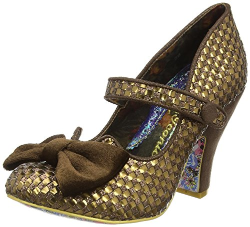 Irregular ChoiceFancy This - Scarpe con Tacco donna , Marrone (Marrone (Bronze)), 40