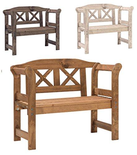 Bomi® Echt-Holz Kinderbank Garten Nala | Kindermöbel Gartenbank Holz 2-Sitzer Kirschbaum | Kleine Sitzmöbel für Kinder, Mädchen Jungen