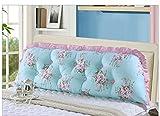 TANG CHAO Große Kissen, Baumwolle, koreanische Korea Sofa Bett Kissen Kissen, Baumwolle, lang, Doppelbett mit hoher Rückenlehne, Kissen, baumwolle, h, M