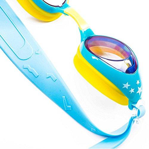 Wuudi Kinder Schwimmbrille Fashion Silica Gel Schwimmbrille Wasserdicht Antibeschlag Anti-UV