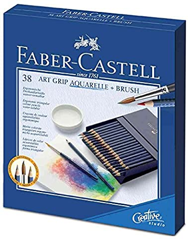 FABER-CASTELL Crayons couleur ART GRIP AQUARELLE box Atelier 36