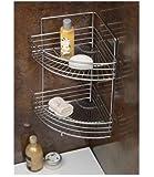 SupaHome Bath Corner Shelf Chrome Plated